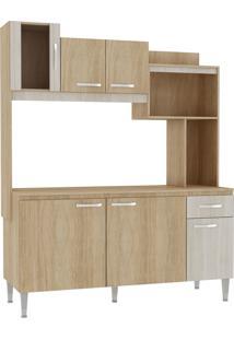 Cozinha Compacta Angel C/ Tampo Carvalho/Blanche Fellicci Móveis