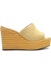 Sandália Wedge Corda Yellow | Schutz