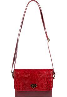 Bolsa Andrea Vinci De Couro Pequena Meg Vermelha
