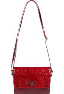 Bolsa De Couro Pequena Meg Vermelha