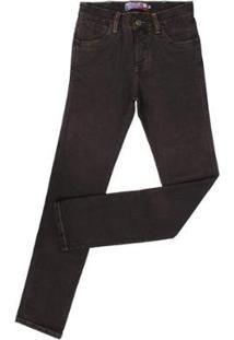 Calça Jeans Rodeo Western Masculina - Masculino-Marrom