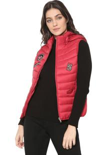 Colete Puffer Facinelli By Mooncity Patchs Vermelho