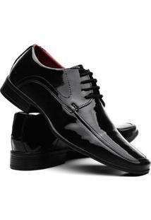 Sapatos Social Vr Verniz Masculino - Masculino-Preto