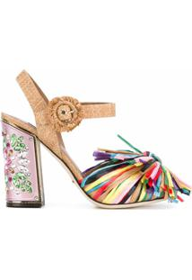 Dolce & Gabbana Sandália De Couro - Rosa