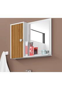 Espelheira Para Banheiro Bechara Gênoca Superior Branco