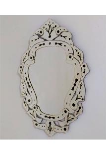 Espelho Veneziano Decorativo, Sala, Margarida Plus Preto 61X88