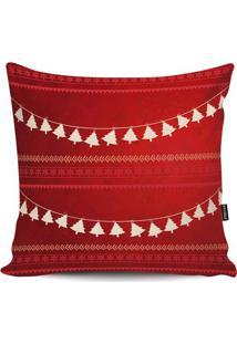 Capa Para Almofada ÁRvore De Natal- Vermelha & Branca