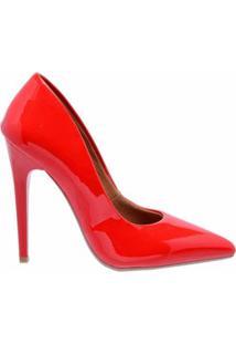 Scarpin Casual Ellas Online Feminino - Feminino-Vermelho