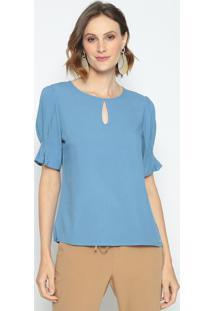 Blusa Com Vazado- Azul- Vip Reservavip Reserva
