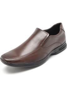 Sapato Social Mariner Recortes Marrom