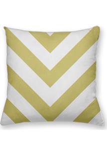 Capa De Almofada Decorativa Own Geométrica Chevron Amarelo 45X45 - Somente Capa