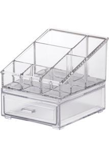 Kit Organizador Cosméticos 12,5X11,5X12Cm - Paramount - Cristal