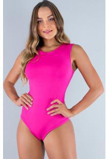 Body Mvb Modas Camiseta Collant Suplex Rosa - Rosa - Feminino - Poliã©Ster - Dafiti