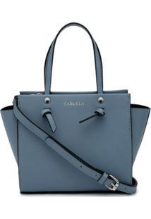 Carvela Bolsa Tote Jamie Mini Com Detalhe De Nó - Azul