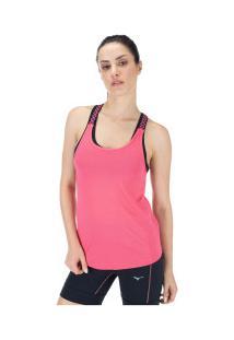 Camiseta Regata Oxer Elástico Jacquard - Feminina - Rosa Escuro