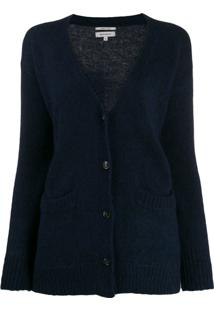 Woolrich Oversized Long-Sleeve Cardigan - Azul