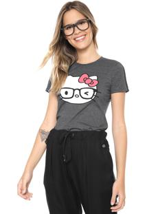 Blusa Cativa Hello Kitty Estampada Grafite