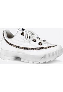 Tênis Feminino Chunky Sneaker Estampa Animal Print Dakota