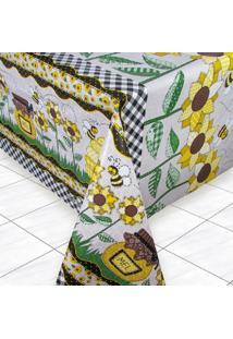 Toalha De Mesa Térmica Impermeável 2,50 X 1,40 Girassol