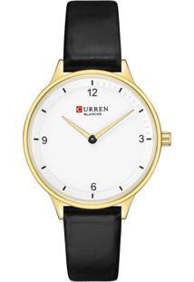 Relógio Curren Analógico C9039L Dourado E Preto