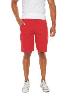 Bermuda Sarja Enfim Color Vermelha
