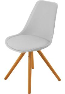 Cadeira Com Assento Estofado Bellagio Acasa Móveis Branco