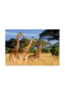 Painel Adesivo De Parede - Girafas - Animais - 1715Pnp