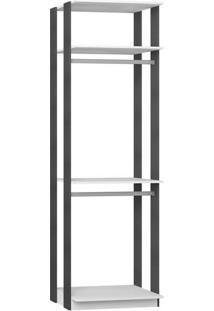 Estante Cabideiro - Branco & Espresso- 220X70X44,5Cmbentec