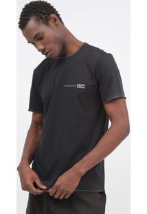 "Camiseta Dupla Face ""Skateboarding"" - Preta & Brancaosklen"