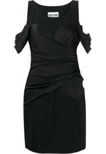 Moschino Vestido Drapeado - Preto