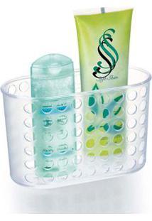 Porta Shampoo Cristal 19X12Cm Com Ventosas Arthi