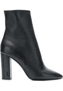 Saint Laurent Ankle Boot 'Lou 95' De Couro - Preto