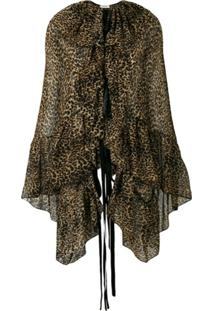 Saint Laurent Blusa Animal Print - Neutro
