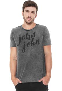Camiseta John John Hand Written Grafite