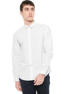 Camisa Calvin Klein Jeans Slim Básica Branca