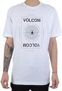 ... Camiseta Volcom Reverb Masculina - Masculino-Branco f24342c7b10