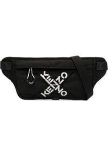 Kenzo Pochete Com Estampa De Logo - Preto