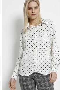 Camisa Com Botãµes - Branca & Preta - Moisellemoisele