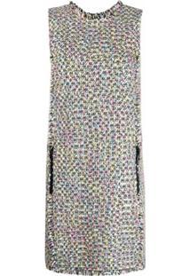 Emporio Armani Vestido Sem Mangas De Tweed - Preto