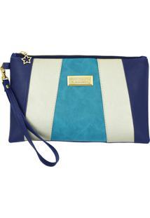 Clutch Duccini Cloe Azul/ - Azul Marinho - Feminino - Dafiti