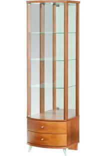 Cristaleira Round Pe Aluminio Cor Nogal 54 Cm (Larg) - 3941 - Sun House