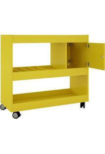 Aparador Bar Cristal- Amarelo- 80,5X90X37,2Cm- Bbechara