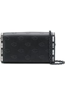 Kenzo Carteira Blink Eye Com Corrente - Preto