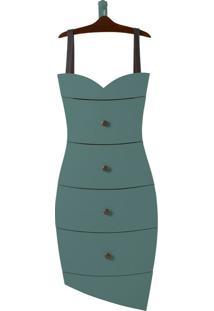 Cômoda Suspensa 4 Gavetas Dress 1081 Cacau/Azul Claro - Maxima