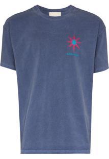 Nicholas Daley Camiseta Com Estampa Cósmica - Azul