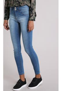 CEA. Calça Jeans Feminina Super Skinny Pull Up Azul Médio 7156d54d647