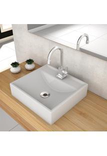 Cuba De Apoio Para Banheiro Compace Ravena Q39W Quadrada Cinza