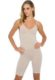 Body Bermuda - Feminino-Nude