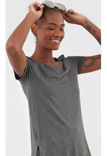 Camiseta Rovitex Lisa Cinza