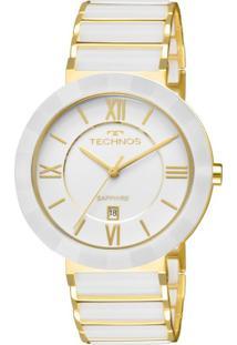Relógio Technos Feminino Ceramic Analógico Branco 2015Bv4B - Kanui